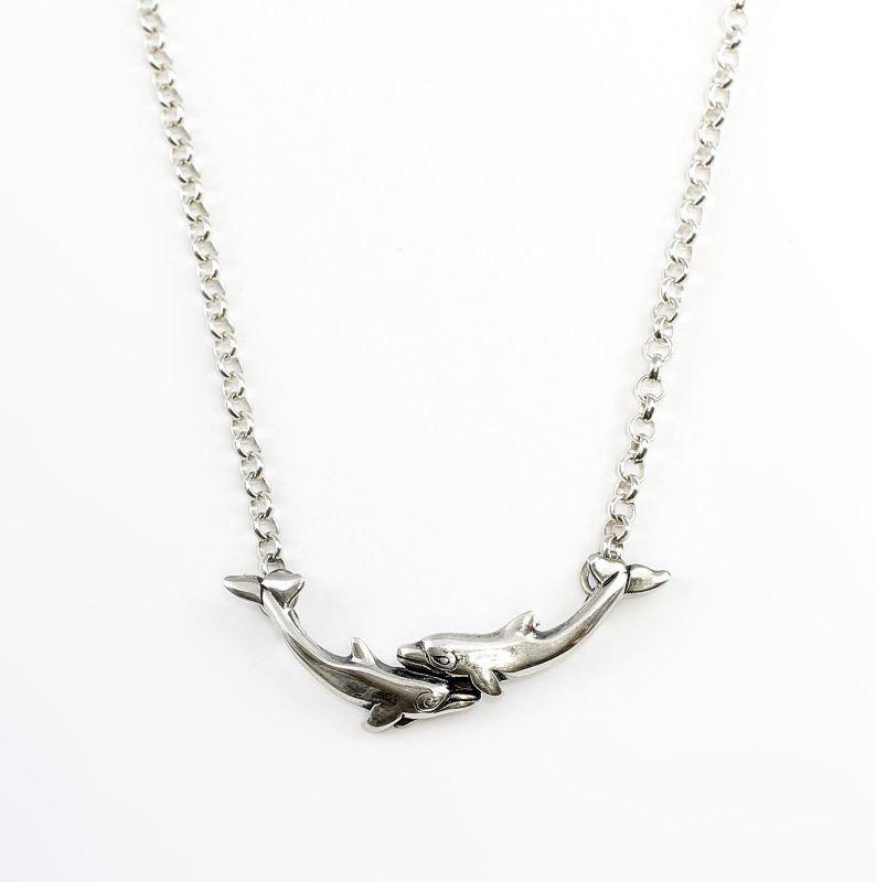 925er Silber Collier Delfine 9901188