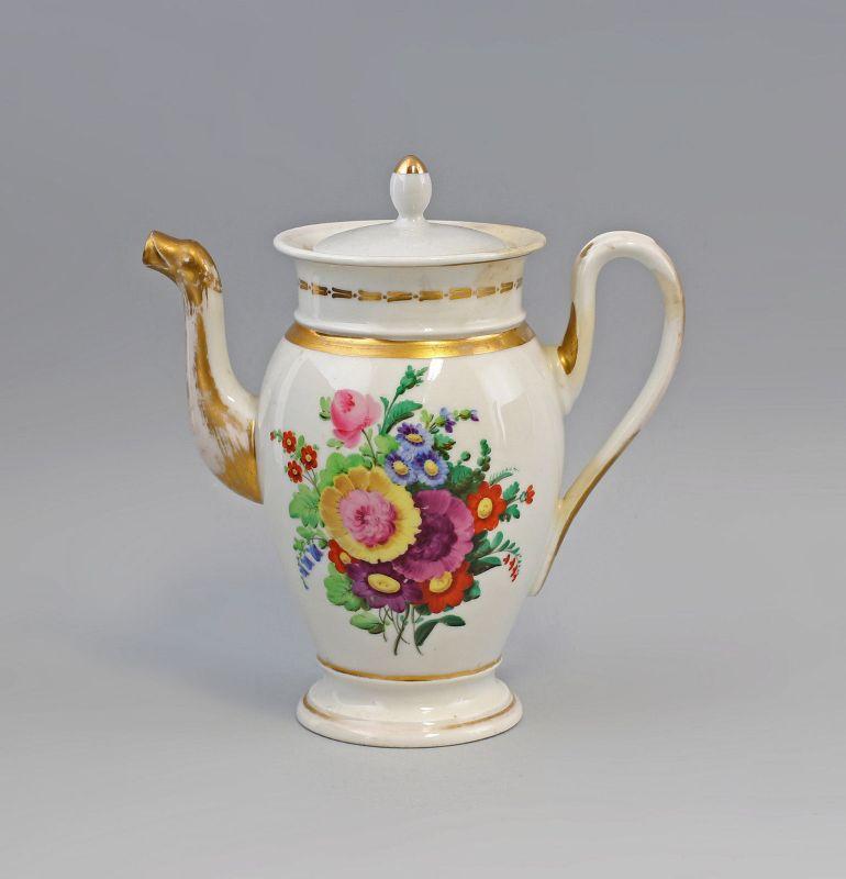 Biedermeier - Kanne Handmalerei Blumenbouquets 99840105