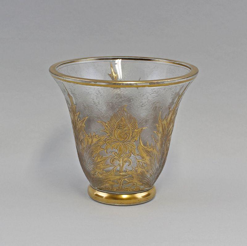 Vase Frankreich Silberdistel-Dekor in Poliergold 99835244