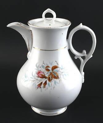 Kaffeekanne Böhmen 19. Jh. farbiges Floraldekor 99840255