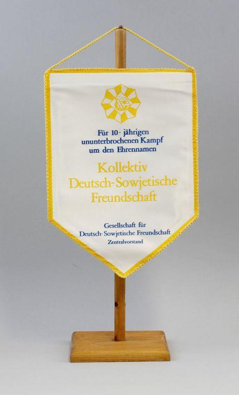 DDR Wimpel 10 Jahre Kampf Kollektiv Deutsch-Sowjetische Freundschaft DSF 9990136
