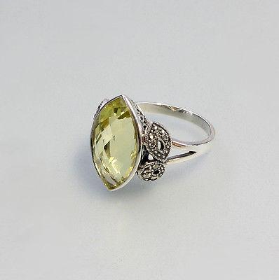 925er Silber Ring mit Lemonquarz Gr. 57 9905012