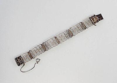 835er Silber Filigran-Armband Jugendstil 99825359