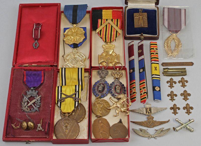 Großes Konvolut Orden und Medaillen Belgien 99890029