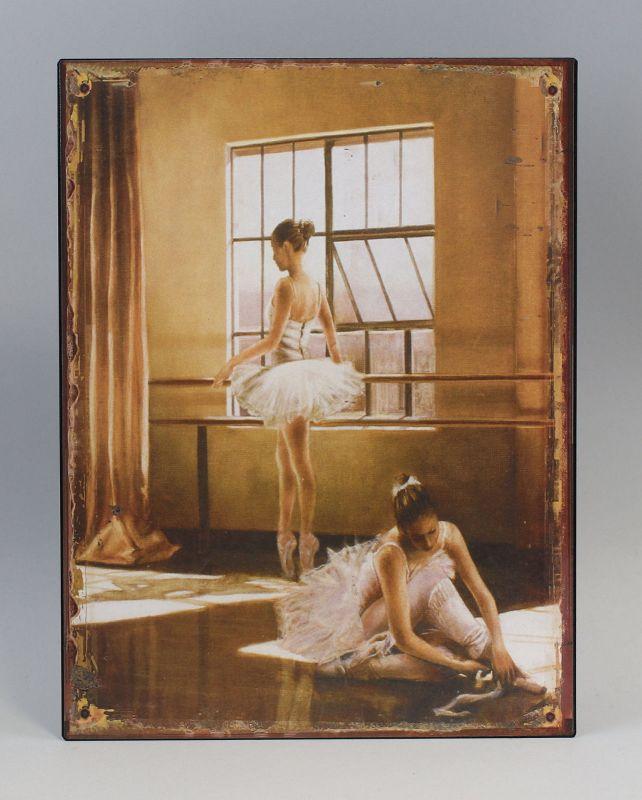 Reklameschild Blechschild Ballerina beim Proben Vintage Nostalgie 9973209