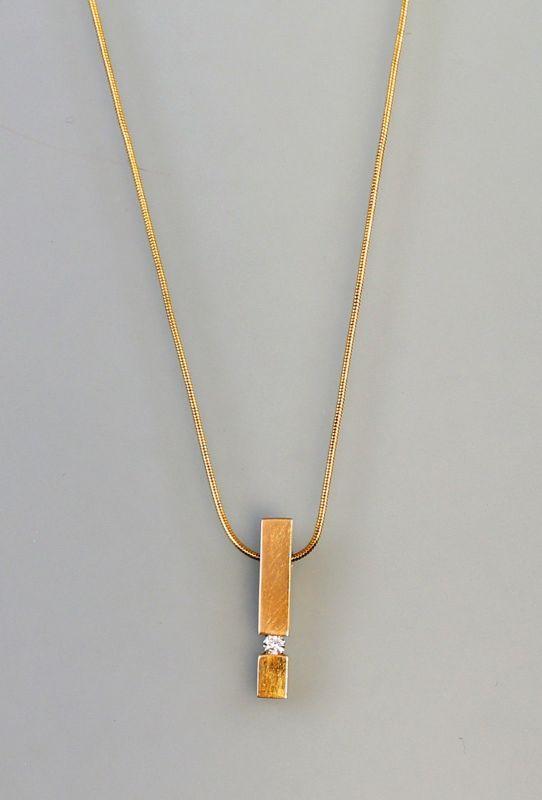 8125104 Kette mit Brillant-Anhänger Christ 585er Gold L46cm