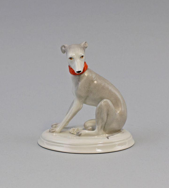9944413 Porzellan Figur Windhund handbemalt  Kämmer H11cm