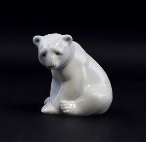 Porzellan Eisbär Bär sitzend Lladro Spanien 9998006