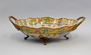 Tafelaufsatz Obstschale Keramik/Bronze 9937867-dss
