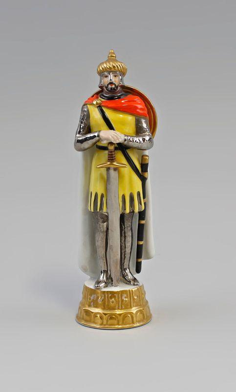 Porzellan Schach-Figur Läufer Ritter Älteste Volkstedt 99840046