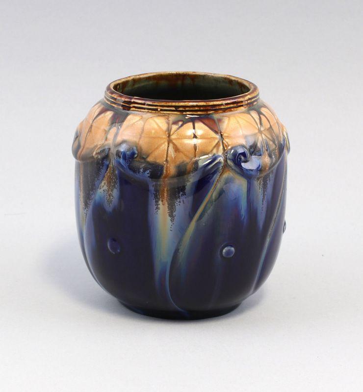 8145035 Keramik Vase Bürgel Jugendstil um 1920 C.A. Schack