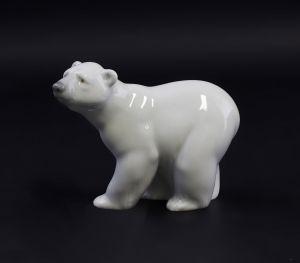 Porzellan Eisbär Bär aufmerksam Lladro Spanien 9998004