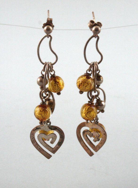 925er Silber Ohrringe Herzen und Perlen 9903015