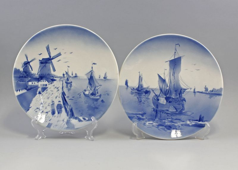 Paar Keramik Teller Holländermotiv Segelschiffe Villeroy & Boch 99845086