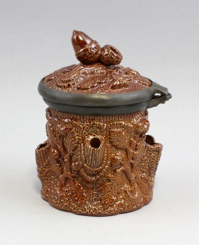 Relief - Tabakdose kölnischbraun Eichenreliefdekor 99845136