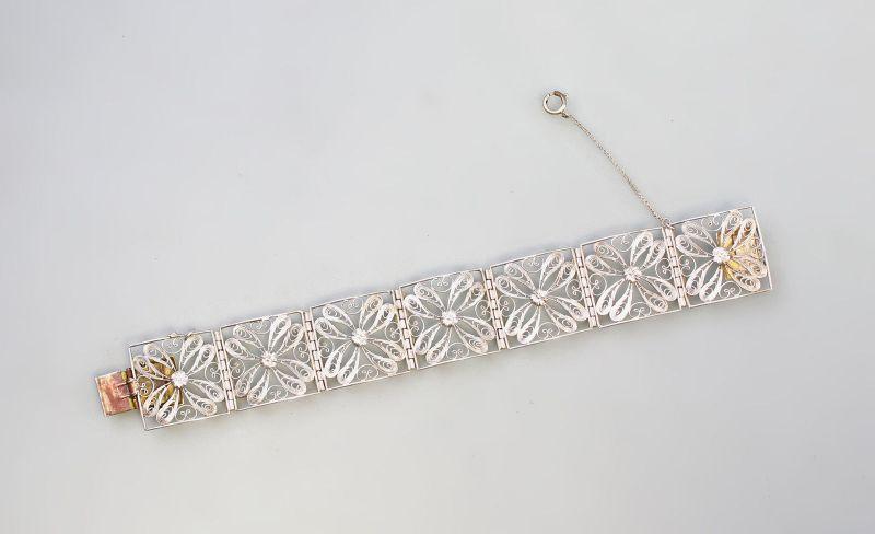 925er Silber Filigran-Armband floral 99825459