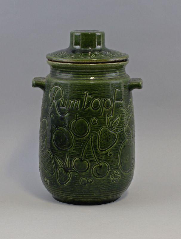 8145016 Keramik Rum-Topf Mitte 20. Jh. Ritzdekor