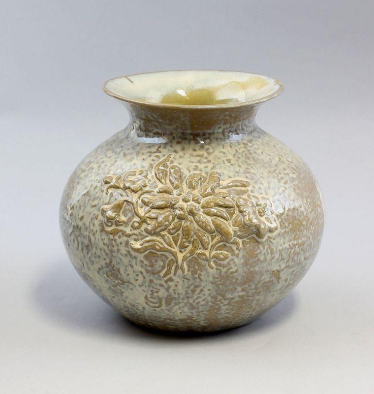 Vase Laufglasur Blumenrelief 99845139