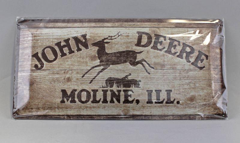 9974049 Reklame Blechschild John Deere Logo 1937 25x50cm