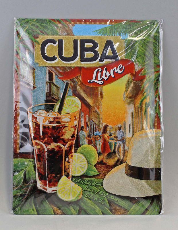 9974045 Reklame Blechschild Cuba Libre 30x40cm