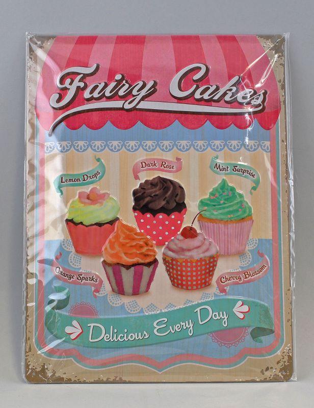 9974042 Reklame Blechschild  Fairy Cakes - Cup Cakes 20x30cm