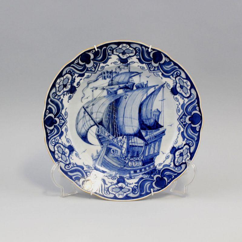 Teller Segelschiff Blaudekor 99845083