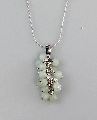 Garnitur 2 Ohrhänger und Anhänger mit Kette und Perlen 925 Silber 9903012