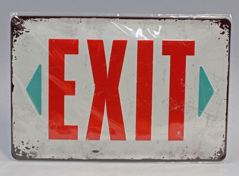 9974037 Reklame Blechschild Exit Ausgang  20x30cm