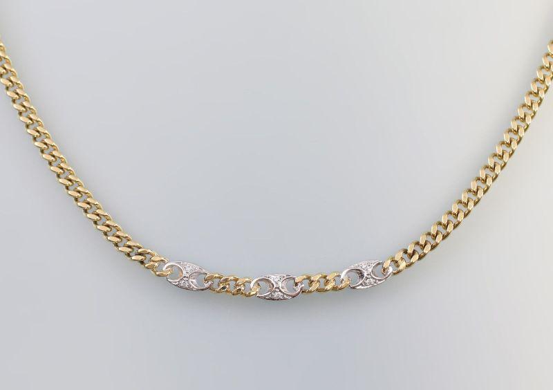 8025056 Brillant-Kette 585er GG Gold L 40 cm