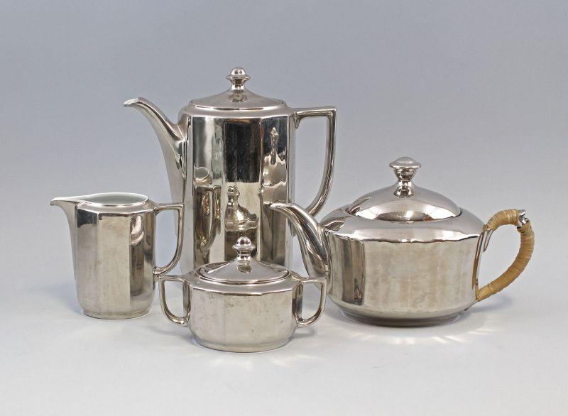 99840026 Kernstück Silver - Overlay Porzellan Teekanne