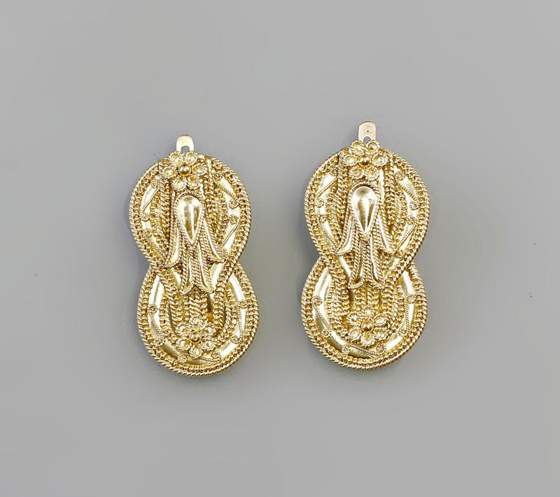 7925005 Orientalische Ohrstecker 750er Gold