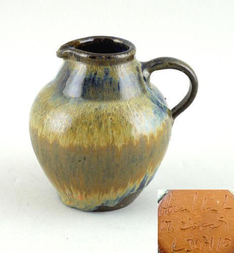 Jugendstil Krug balusterförmig Laufglasur Keramik 99845106