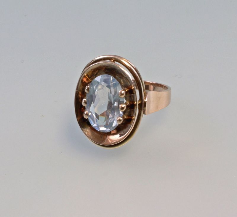 8125204 Aquamarin-Ring 333er Gold Gr.54
