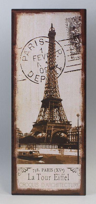 Reklameschild Blechschild Eifelturm Paris Vintage Nostalgie 9973204