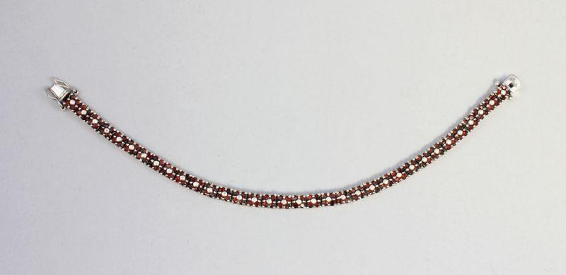 925er Silber Granat Armband 9902046