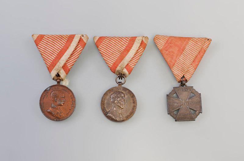 3 Orden u. Medaillen Österreich-Ungarn 1.WK Tapferkeitsmedaille 99890014