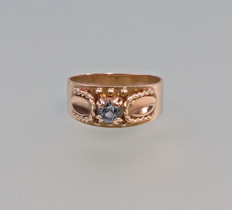 8125203 Aquamarin-Ring 333er Gold Gr.56