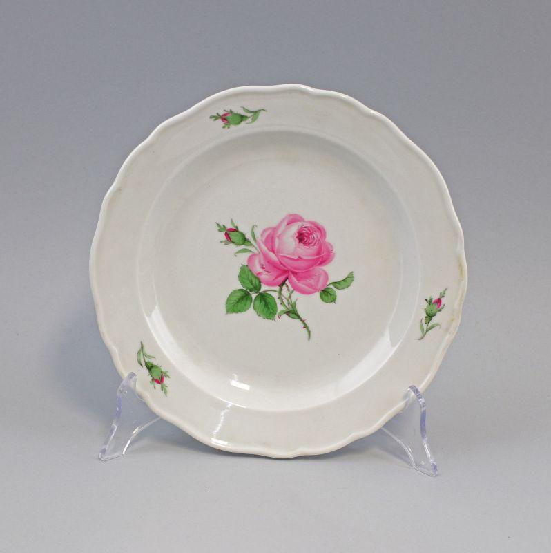 99840055 Speise-Teller Meissen Rose nach 1934 Blumendekor