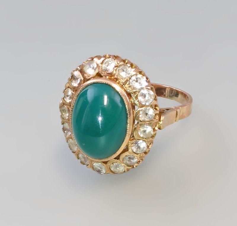 7925041 Aventurin-Bergkristall-Ring 585er Gold Gr. 57