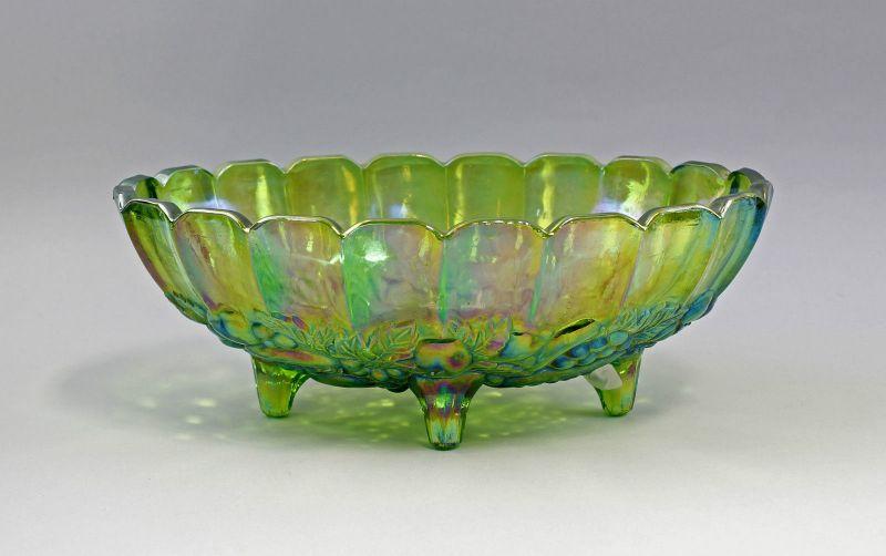 Schale Karnevalsglas um 1900 grün lüstriert 99835066