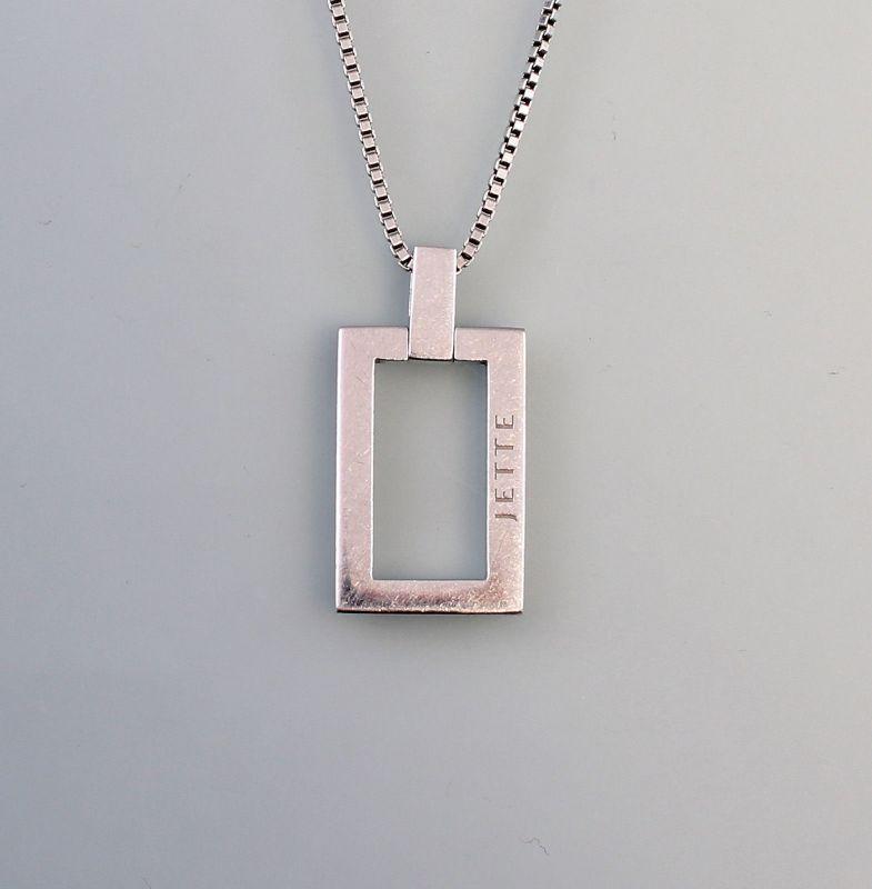 Silberne Kette und Anhänger Jette 925er Silber 99825379