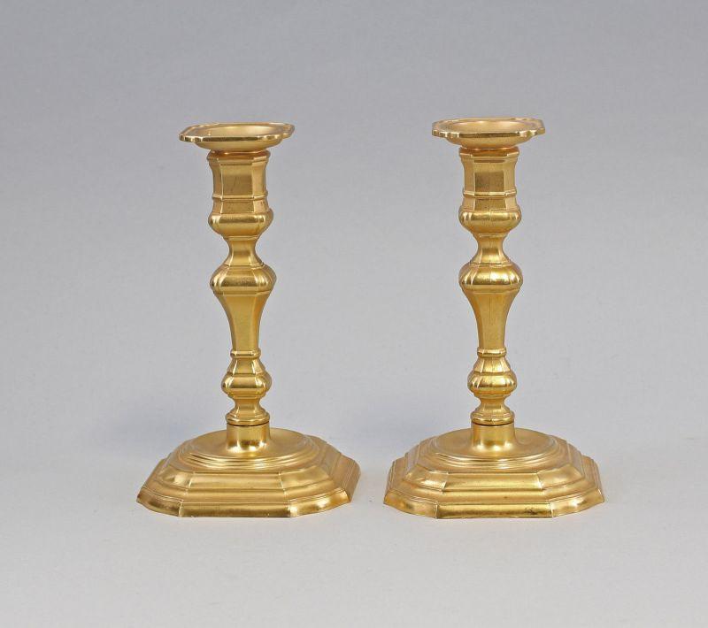 Paar vergoldete Messing Leuchter Kerzenständer BMF 99833026