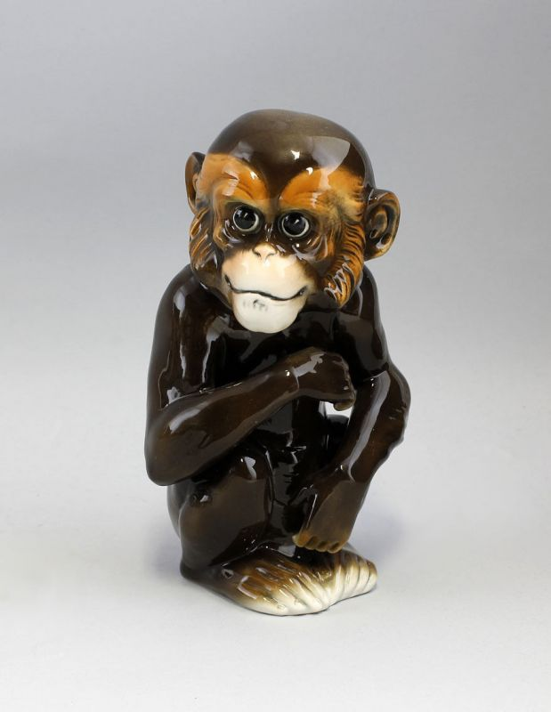 9941306# Porzellan Figur Ens Affe Schimpanse H21cm