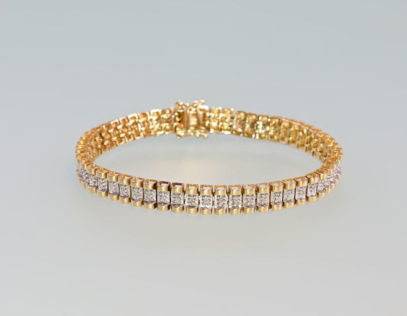 8025050 Brillant-Armband 585er GG Gold