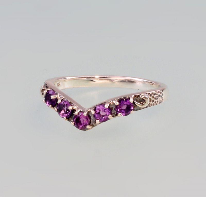 925er Silber Amethyst- Ring Gr. 57  9927518