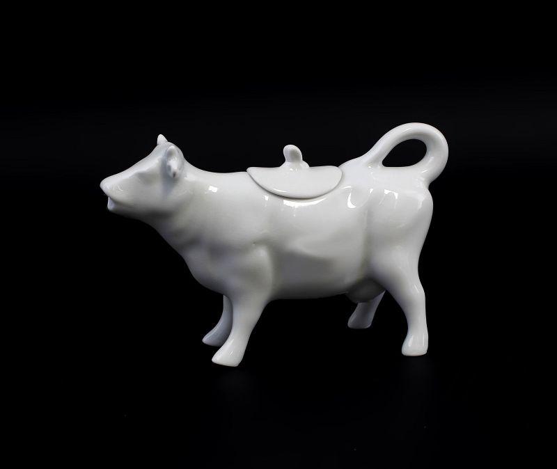 Porzellan Figuren Gräfenthal Milch-Kuh Milch-Kännchen weiß 9943315