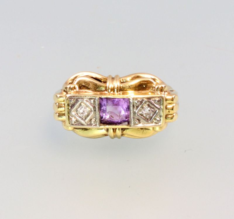 8125168 Amethyst-Ring 585er Gold Gr.54