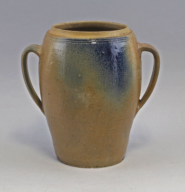 99845522 Keramik Steinzeug Topf Bürgeler Blauschürze 19. Jh. Bürgel Thüringen