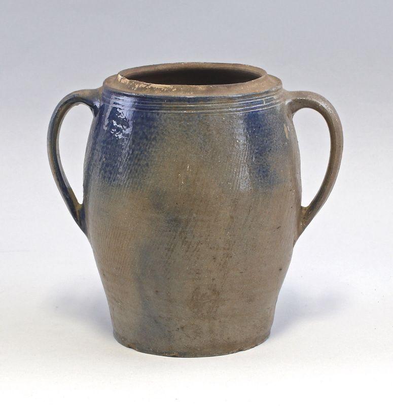 99845517 Keramik Steinzeug Topf Bürgeler Blauschürze 19. Jh. Bürgel Thüringen