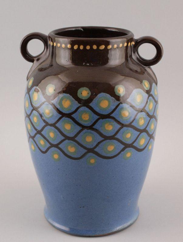 99845104 Bäuerliche Keramik Vase Jugendstil um 1900 Amphore